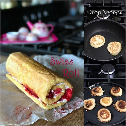 swiss roll & drop scones