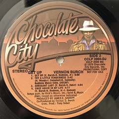 VERNON BURCH:GET UP(LABEL SIDE-B)