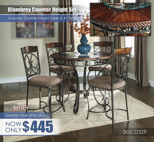 Glambrey Counter Height Table & 4 Chairs D329-13-124(4)-R260_LimitedTimeSpecial