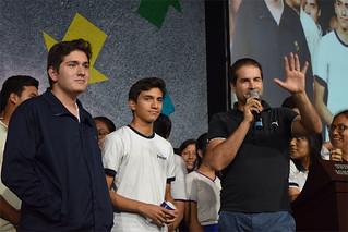"""Más de 460 alumnos de 5.° año de secundaria participaron en la charla-taller """"El Camino de la Vocación"""", a cargo del psicólogo y actor Javier Echevarría."""