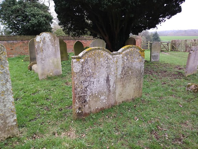 The Carrington gravestones, St Peter's churchyard, Tewin