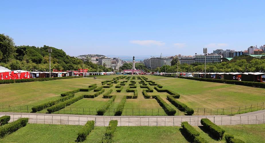 De mooiste parken in Lissabon: Edward VII park Lissabon | Mooistestedentrips.nl