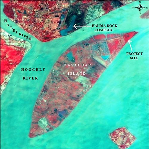 नयाचर द्वीप मानचित्र