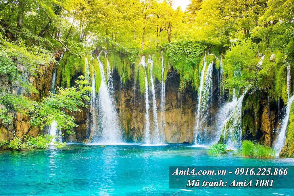 Tranh thác nước đẹp từ thiên nhiên tươi mát