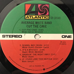 AVERAGE WHITE BAND:CUT THE CAKE(LABEL SIDE-A)