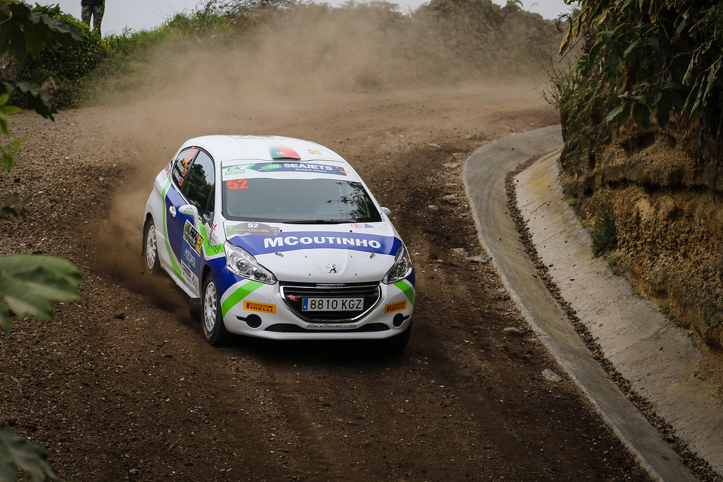 52 GAGO Diogo (prt), RAMALHO Miguel (prt), Peugeot 208 R2, action during the 2018 European Rally Championship ERC Azores rally,  from March 22 to 24, at Ponta Delgada Portugal - Photo Jorge Cunha / DPPI