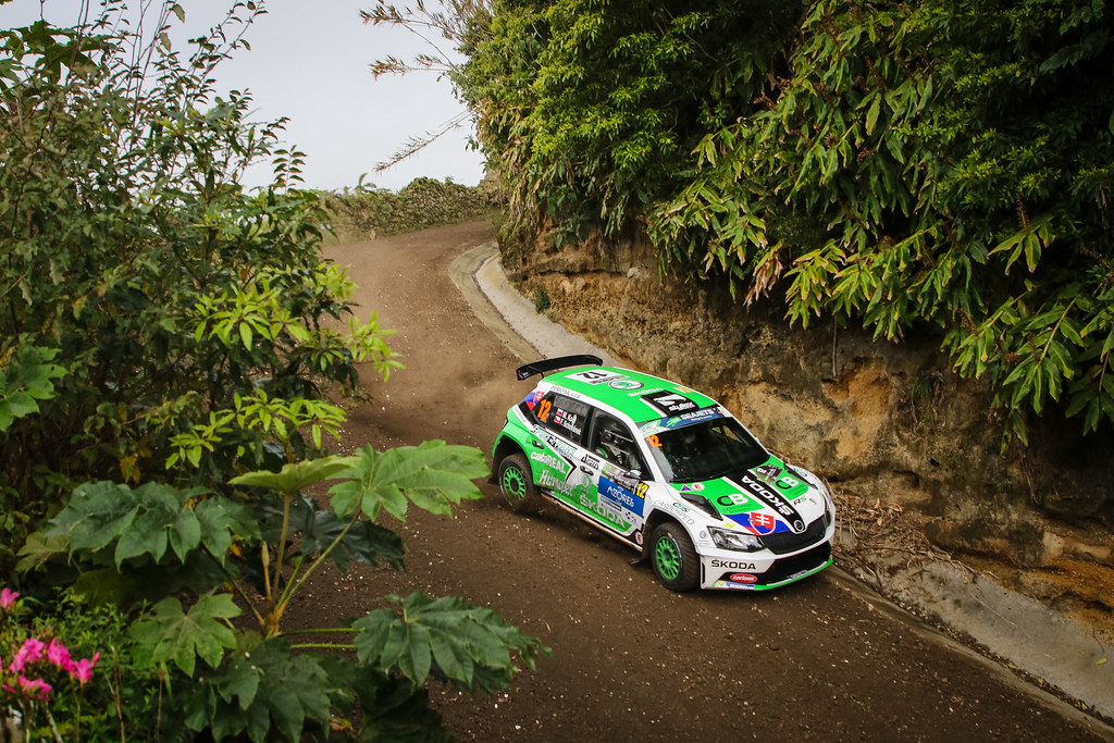 12 KOCI Martin (svk), SCHOVANEK Filip (cze), SKODA SLOVAKIA MOTORSPORT, SKODA FABIA R5, action during the 2018 European Rally Championship ERC Azores rally,  from March 22 to 24, at Ponta Delgada Portugal - Photo Jorge Cunha / DPPI