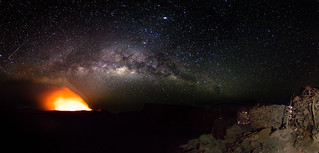 Milky way and Erta Ale Volcano