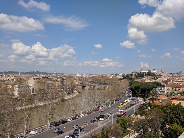 views of Rome from Giardino degli Aranci