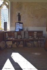 remains of the shrine altar