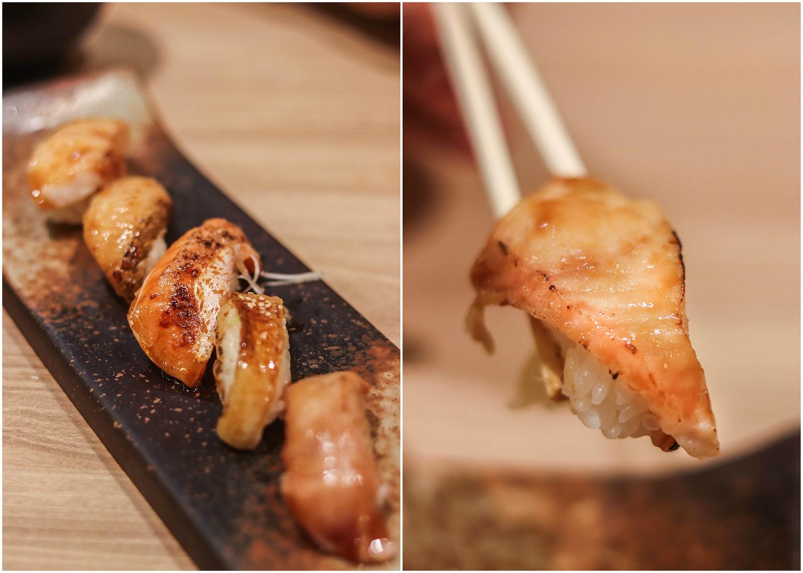 salmon & Bozo Ginpo collage