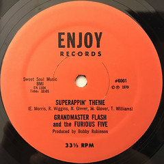 GRANDMASTER FLASH AND THE FURIOUS FIVE:SUPERRAPPIN'(LABEL SIDE-B)