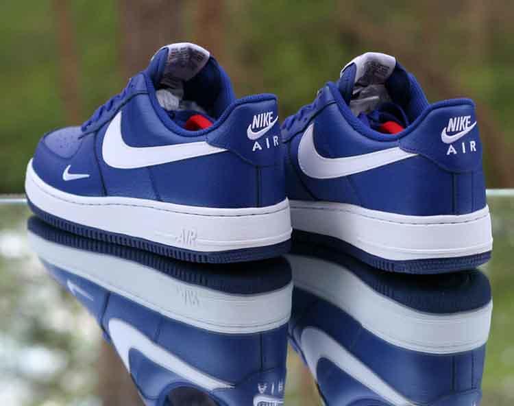 ... Nike Air Force 1 Low  07 Deep Royal Blue White Mini Swoosh 820266-406 200cc4cc55