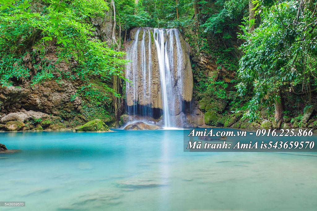 Tranh treo tường đẹp phong cảnh thiên nhiên thác nước
