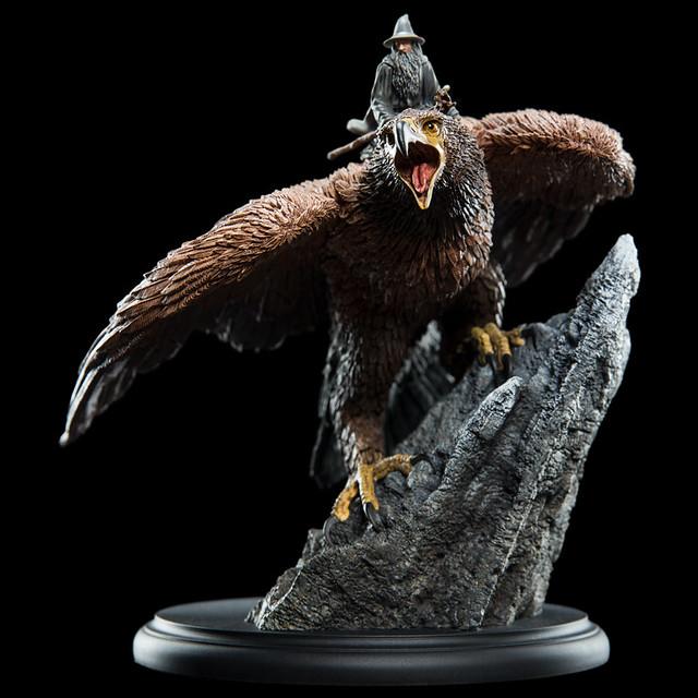 「風王」關赫魄力姿態再現!! WETA《魔戒》關赫上的甘道夫 The Lord of the Rings Gandalf on Gwaihir Miniature Figure 全身雕像作品
