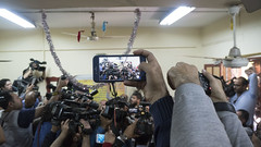 Filming the reporters on iPhone in Egypt's presidential elections 2018