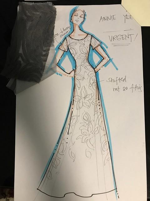 Amir Sali  dark gray gown