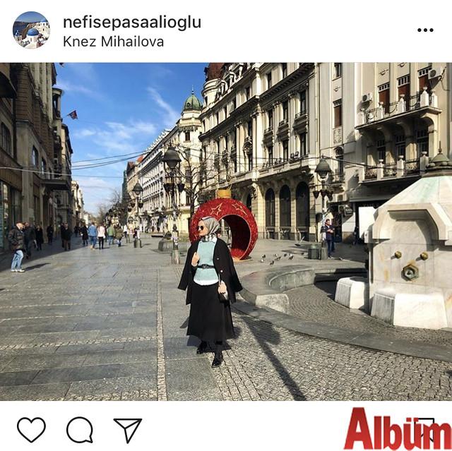 Paşaalioğlu Optik'in sahibi Nefise Paşaalioğlu, Belgrad'ın gözde caddesi Knez Mihailova'dan yaptığı bu paylaşımla beğeni topladı.