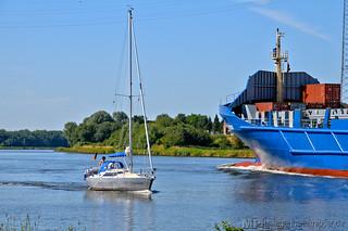 Schiffsverkehr bei Schacht-Audorf