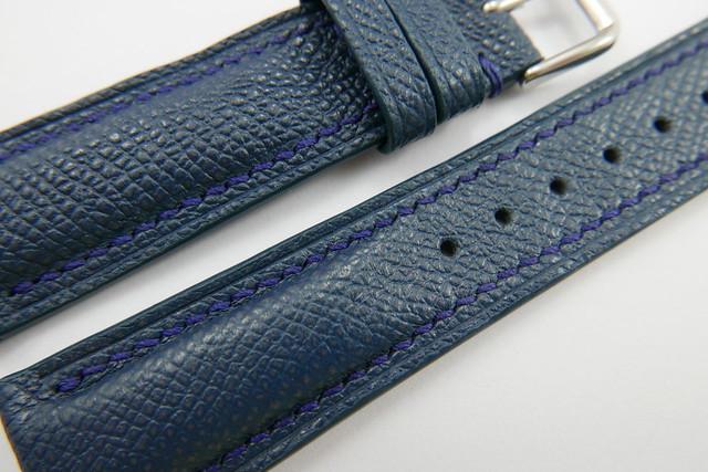93bde3407 23mm/20mm Denim Blue Genuine EPSOM Leather Watch Strap #WT993 ...