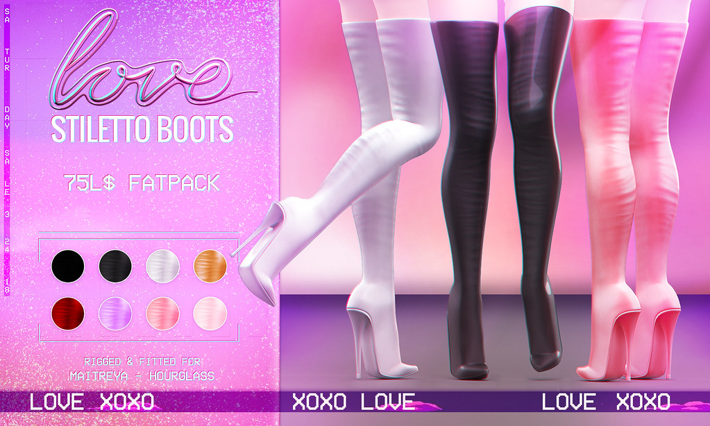 Love [Stiletto Boots] 75L Fat Pack - The Saturday Sale - TeleportHub.com Live!