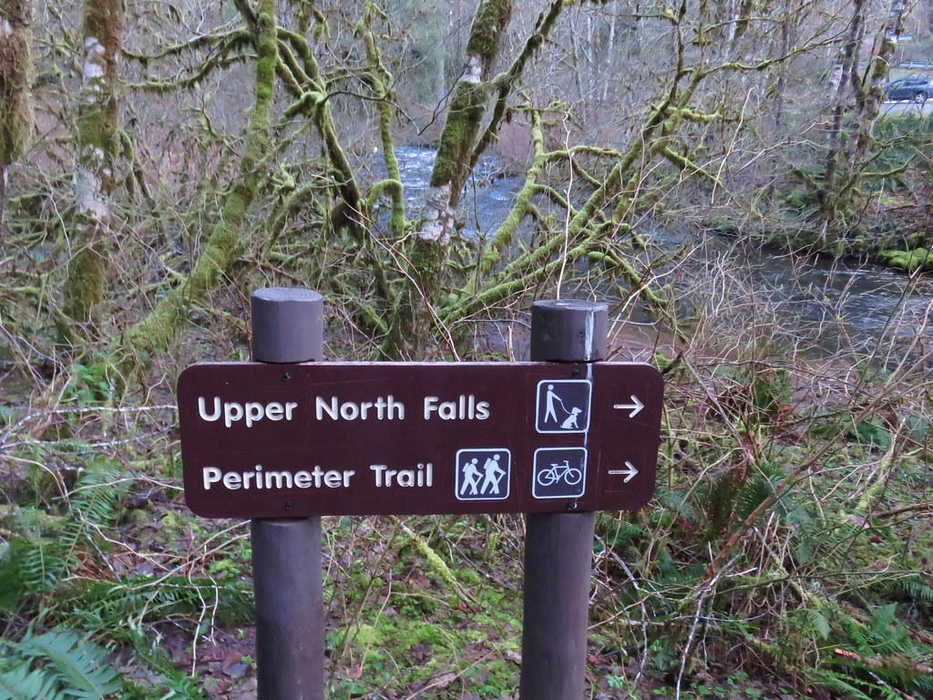 Sign for Upper North Falls