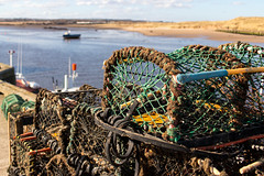 Lobster Pots on Amble Marina