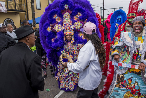 Monogram Hunters Big Chief Pie during Downtown Super Sunday on April 8, 2018. Photo by Ryan Hodgson-Rigsbee RHRphoto.com