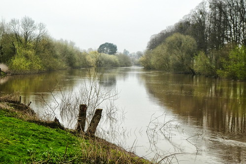 Worcester, River Severn on a very dull April day