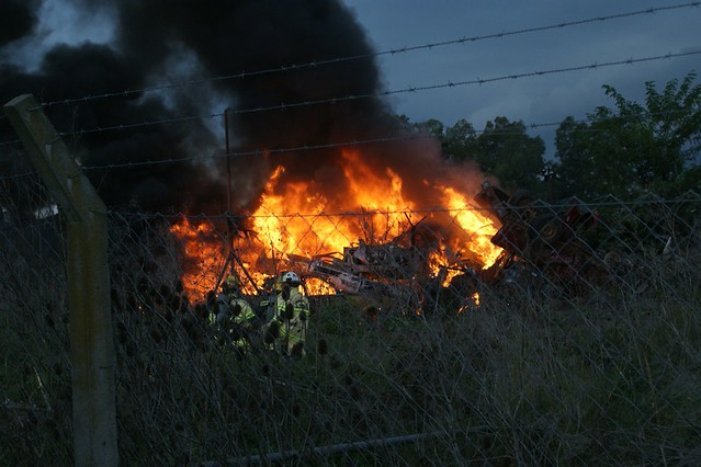 Incendio de Autos en Doposito Judicial