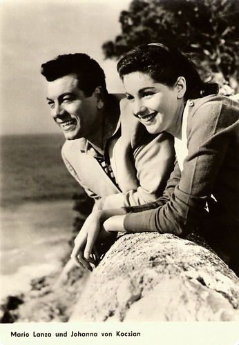 Mario Lanza and Johanna von Koczian in For the First Time (1958)