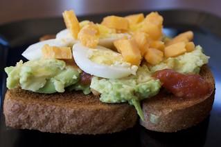 Salsa and Egg Avocado Toast