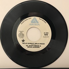 GIL SCOTT-HERON & BRIAN JACKSON:HELLO SUNDAY! HELLO ROAD!(RECORD SIDE-B)