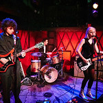 Wed, 24/01/2018 - 8:14pm - Sunflower Bean - Julia Cumming, Nick Kivlen and Jacob Faber - perform for WFUV Public Radio at Rockwood Music Hall in New York City, 1/24/18. Hosted by Russ Borris. Photo by Gus Philippas/WFUV