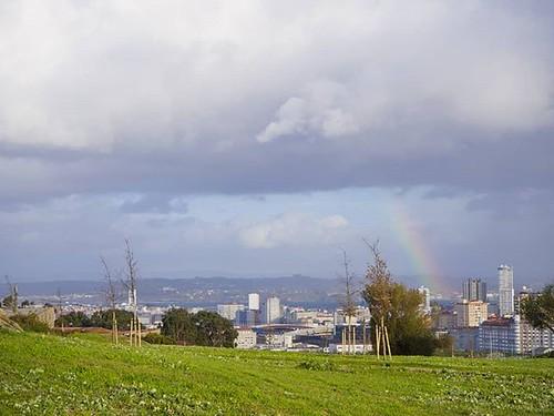 Cielos bonitos. #rainbow #clouds #arcoiris #nubes #Coruña #olympusomd #photography #photowalk