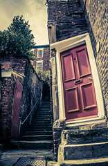 Steps to door Whitby