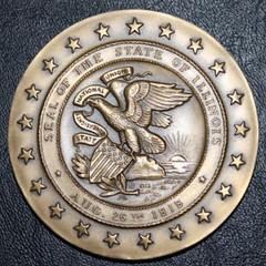 1968 Illinois Sesquicentennial Bronze Medal obverse