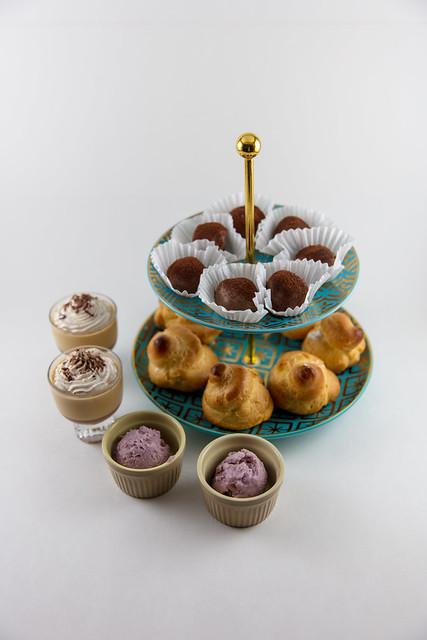 Potato Ice Cream, Salted Caramel Panna Cotta, Cream Puffs, Mashed Potato Truffles