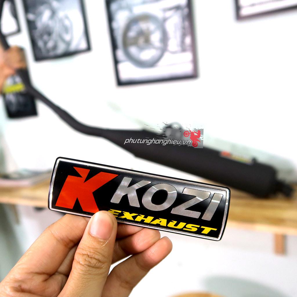Pô tăng giả zin Kozi Malaysia cho xe Ex135, Ex150, Winner