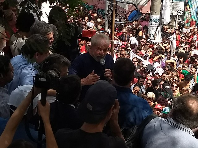 Lula reuniu milhares de pessoas no Sindicato dos Metalúrgicos do ABC - Créditos: Brasil de Fato