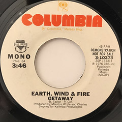EARTH, WIND & FIRE:GETAWAY(LABEL SIDE-B)