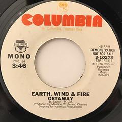 EARTH, WIND & FIRE:GETAWAY(LABEL SIDE-B)