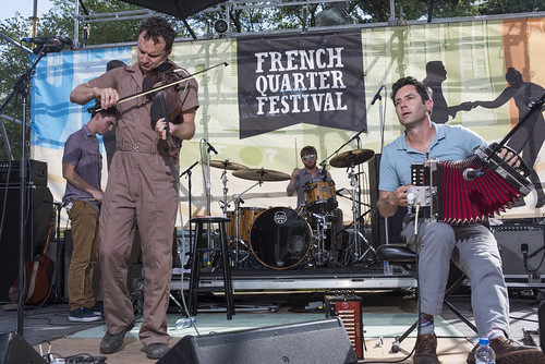 Lost Bayou Ramblers perform during French Quarter Fest on April 12, 2018. Photo by Ryan Hodgson-Rigsbee RHRphoto.com