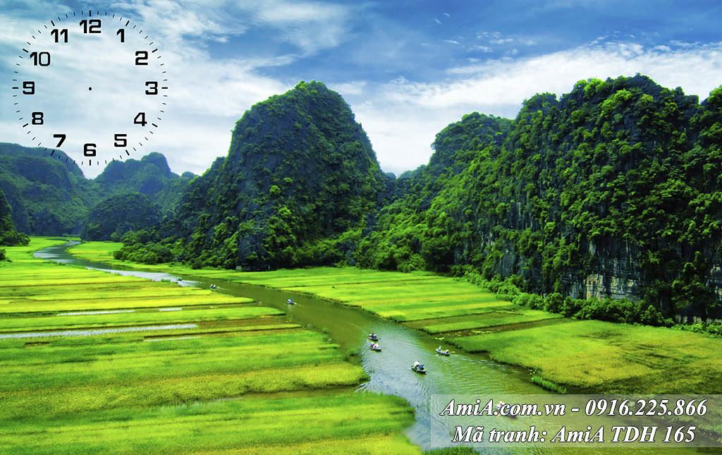 AmiA 165 - Tranh phong cảnh đẹp khổ lớn 1 tấm Tràng An