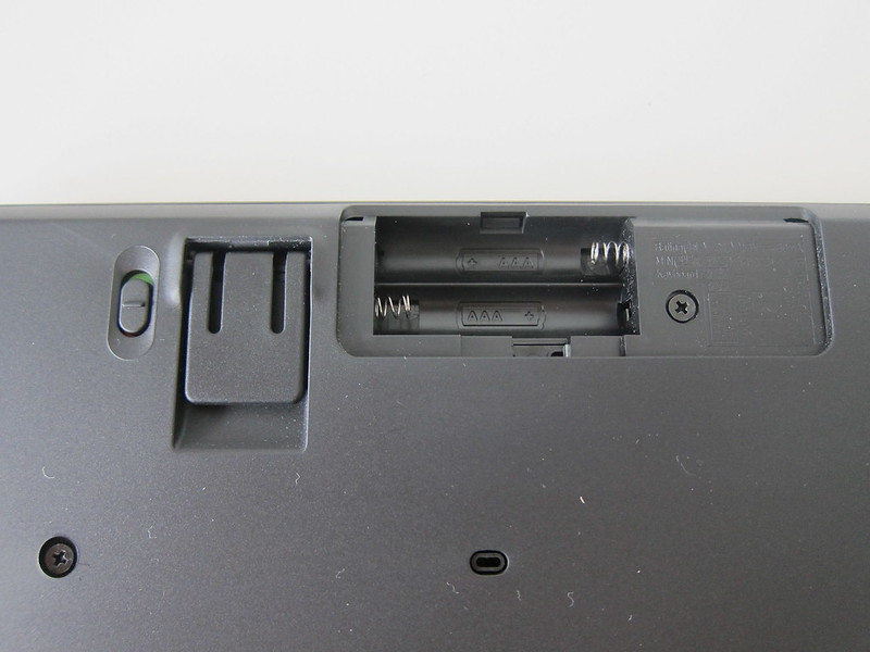 Logitech K375s Multi-Device Wireless Keyboard - Battery Compartment