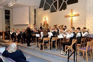 Göta Brass Band under ledning av Jan Winborg