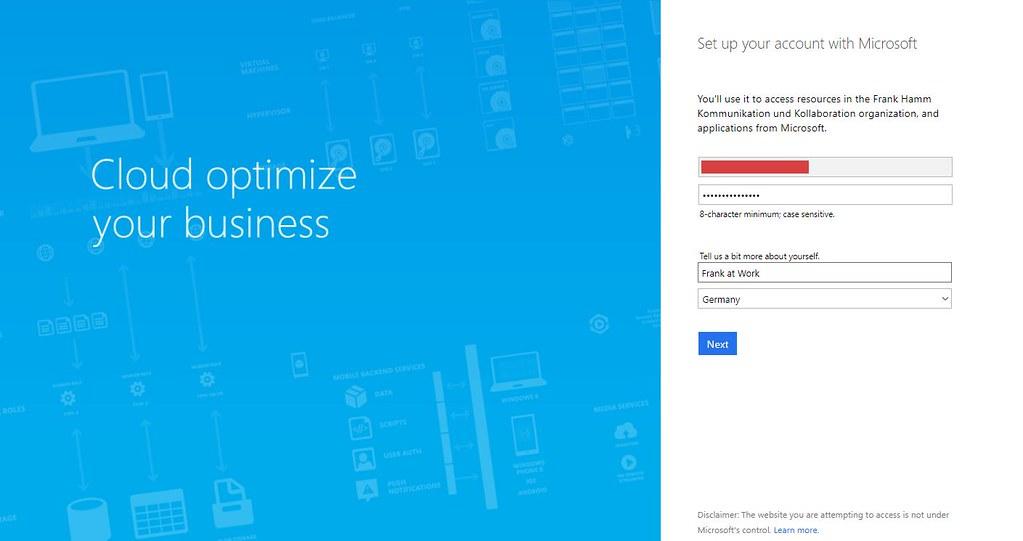 Microsoft Teams Gastzugang (5): Passwort im Browser vergeben