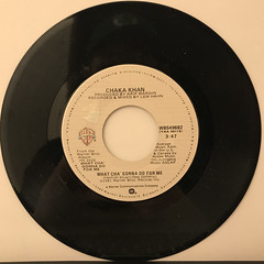 CHAK KHAN:WHAT CHA' GONNA DO FOR ME(RECORD SIDE-A)