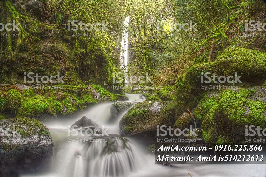 Tranh thác nước đẹp hợp phong thủy treo tường