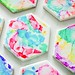 Diy Home : How to make stylish DIY coasters with inexpensive ceramic tile, markers, isoprop...
